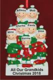 Holiday Lights Party of 7 Personalized Christmas Ornament Personalized by Russell Rhodes