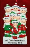 Holiday Lights Party of 8 Personalized Christmas Ornament Personalized by Russell Rhodes