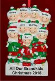Holiday Lights Party of 9 Personalized Christmas Ornament Personalized by Russell Rhodes