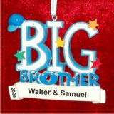 Big Brother Christmas Ornament Personalized by Russell Rhodes