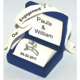 Marry Me? Blue Box Christmas Ornament Personalized by Russell Rhodes