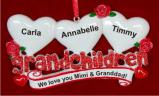 From 3 Grandkids to Grandparents Christmas Ornament Personalized by Russell Rhodes