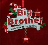 My Cool Big Brother Christmas Ornament Personalized by Russell Rhodes