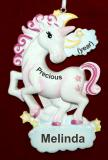 Personalized Unicorn Christmas Ornament Precious Girl Personalized by Russell Rhodes