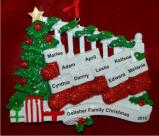 Family Banister Family of 9 Christmas Ornament Personalized by Russell Rhodes