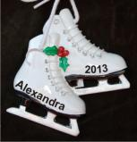 Embodiment of Grace Figure Skates Christmas Ornament Personalized by Russell Rhodes