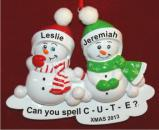 Snow Much Fun 2  Christmas Ornament Personalized by Russell Rhodes