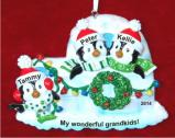 Igloo for 3 - My Grandkids Christmas Ornament Personalized by Russell Rhodes