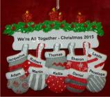 All 10 of Us Together for Christmas Christmas Ornament Personalized by Russell Rhodes