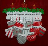 All 11 of Us Together for Christmas Christmas Ornament Personalized by Russell Rhodes