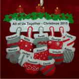 All 12 of Us Together for Christmas Christmas Ornament Personalized by Russell Rhodes