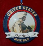 Picture Frame My Marine Christmas Ornament Personalized by Russell Rhodes