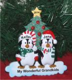 Winter Family of 2 Tabletop Christmas Ornament Personalized by Russell Rhodes