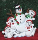 Grandparents with Four Great Grandkids Tabletop Decoration Personalized by Russell Rhodes