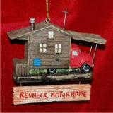 Redneck Motor Home Christmas Ornament Personalized by Russell Rhodes