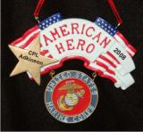 Marine Military Hero Christmas Ornament Personalized by Russell Rhodes