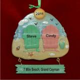 Our Beach Vacation Christmas Ornament Personalized by Russell Rhodes