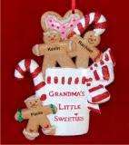 Grandma's Three Little Sweeties Christmas Ornament Personalized by Russell Rhodes