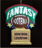 Armchair Champ: Fantasy Football Christmas Ornament Personalized by Russell Rhodes