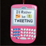 Pink Tweet Christmas Ornament Personalized by Russell Rhodes