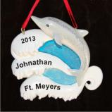 Dolphin Encounter for Boy Christmas Ornament Personalized by Russell Rhodes