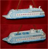 Cruise Ship Master of the Seas Christmas Ornament Personalized by Russell Rhodes