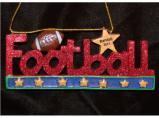 Football Rocks Christmas Ornament Personalized by Russell Rhodes