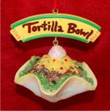 Mexican Food Taco Salad Christmas Ornament Personalized by Russell Rhodes