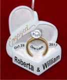 Engaged to be Married Christmas Ornament Personalized by Russell Rhodes
