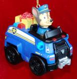 Paw Patrol Police on the Way Christmas Ornament Personalized by Russell Rhodes