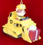 Paw Patrol We Can Construct It Christmas Ornament Personalized by Russell Rhodes