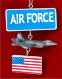 Air Force Christmas Ornament Personalized by Russell Rhodes