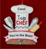 Top Chef Talent Christmas Ornament Personalized by Russell Rhodes