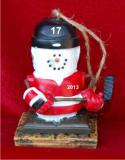 S'Mores Hockey Christmas Ornament Personalized by Russell Rhodes