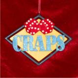 Craps Christmas Ornament Personalized by Russell Rhodes