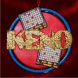 Keno Christmas Ornament Personalized by Russell Rhodes