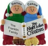 Night Before Christmas Family of 2 Christmas Ornament Personalized by Russell Rhodes