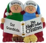 Night Before Christmas - 2 Grandkids Christmas Ornament Personalized by Russell Rhodes
