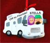 Motor Home: On the Road Christmas Ornament Personalized by Russell Rhodes