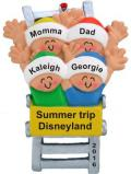 Roller Coaster Fun for 4 Christmas Ornament Personalized by Russell Rhodes