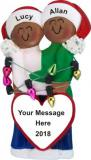 Couple's First Christmas African American Christmas Ornament Personalized by Russell Rhodes