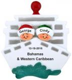 Cruisin' Couple Out to Sea Christmas Ornament Personalized by Russell Rhodes