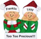 Too Cute 2 Grandkids Christmas Ornament Personalized by Russell Rhodes