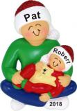Older Brother with Baby Christmas Ornament Personalized by Russell Rhodes