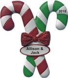 Candy Cane Christmas Ornament Personalized by Russell Rhodes