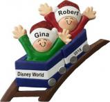 Roller Coaster All Aboard for Couple Christmas Ornament Personalized by Russell Rhodes