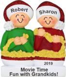 Stringing Popcorn 2 Grandkids Christmas Ornament Personalized by Russell Rhodes