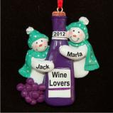 Red Wine for Friends Christmas Ornament Personalized by Russell Rhodes