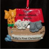 Noah's Little Ark Christmas Ornament Personalized by Russell Rhodes