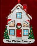 Holiday Celebrations White House with Couple Personalized Christmas Ornament Personalized by Russell Rhodes